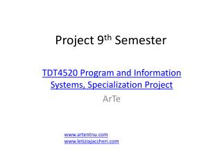 Project 9 th  Semester