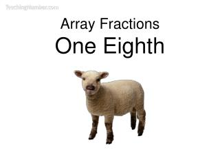 Array Fractions One Eighth