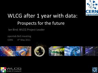 WLCG after 1 year with data: Prospects for the future
