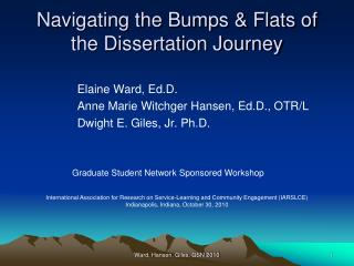 Navigating the Bumps & Flats of the Dissertation Journey