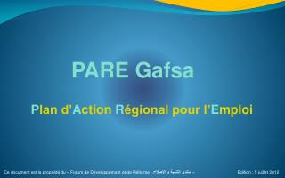 PARE Gafsa