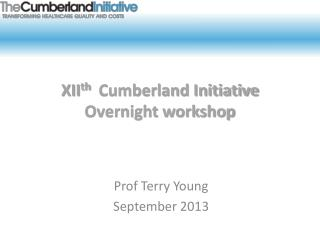 XII th   Cumberland Initiative Overnight workshop
