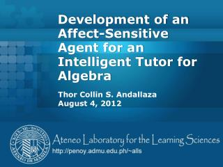 Development of an Affect-Sensitive Agent for an Intelligent Tutor for Algebra