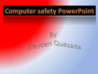 Computer safety PowerPoint