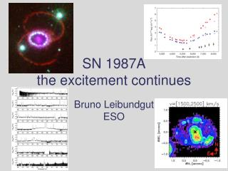 SN 1987A  the excitement continues