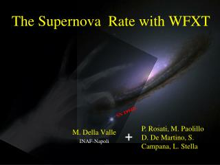The Supernova  Rate with WFXT