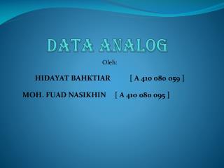 Data analog