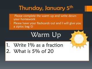 Thursday ,  January  5 th