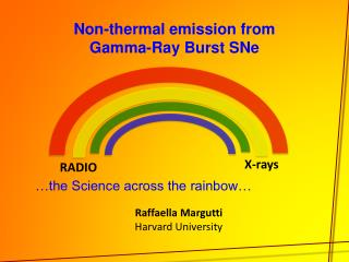 Non-thermal emission from Gamma-Ray Burst  SNe