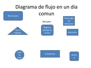 Diagrama de flujo en un  dia comun