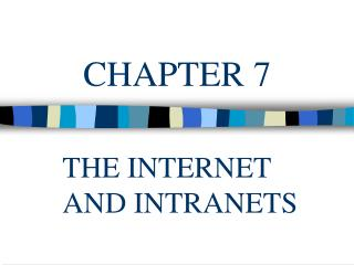 The Internet and Internet Technology