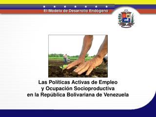 Las Pol ticas Activas de Empleo y Ocupaci n Socioproductiva en la Rep blica Bolivariana de Venezuela