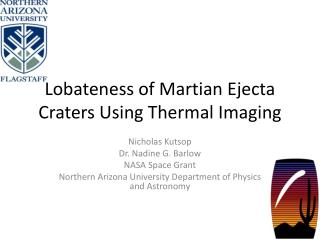 Lobateness of Martian Ejecta Craters Using Thermal Imaging