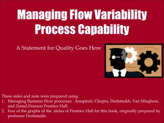 Managing Flow Variability Process Capability