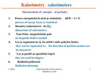 Kalorimetry calorimeters