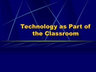 Uses of Word Processors in the Classroom