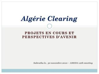 Algérie Clearing