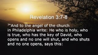 Revelation 3:7-8