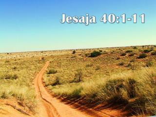 Jesaja 40:1-11