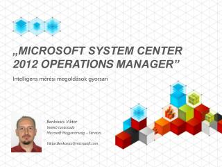"""Microsoft System Center 2012  Operations Manager"""