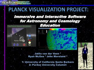 Planck Visualization project: