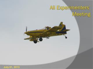 All Experimenters � Meeting