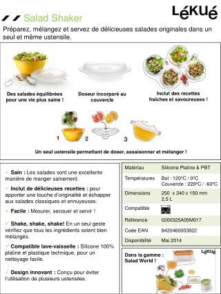 Sain :  Les salades sont une excellente manière de manger sainement.