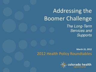 Addressing the  Boomer Challenge