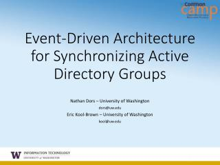 Event-Driven Architecture for Synchronizing Active Directory Groups