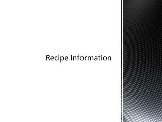 Recipe Information