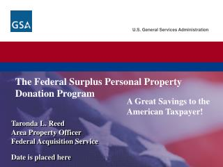 The Federal Surplus Personal Property Donation Program