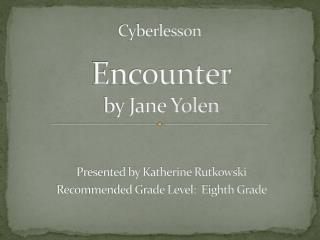 Encounter by Jane Yolen