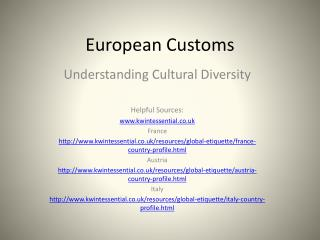 European Customs