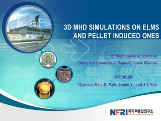3D MHD  simulations  oN  ELMs and  pellet  inDUCED  ONES