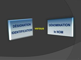 DÉSIGNATION IDENTIFICATION