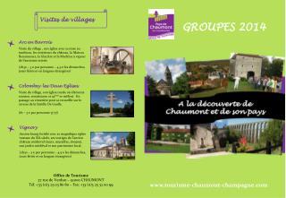 Office de Tourisme  37 rue de Verdun – 52000 CHAUMONT