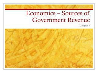Economics – Sources of Government Revenue
