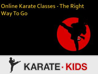 Online Karate Classes - The Right Way To Go