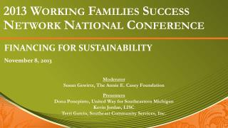 2013 Working Families Success Network National Conference