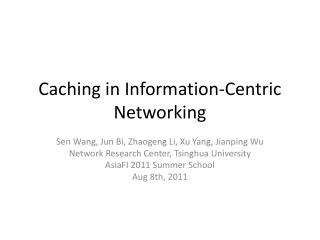 Caching in Information-Centric Networking
