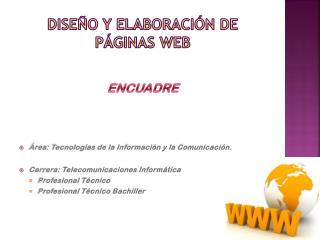 DISEÑO Y ELABORACIÓN DE PÁGINAS WEB