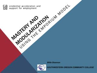 MASTERY and Modularization