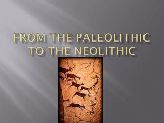 From the Paleolithic to the Neolithic