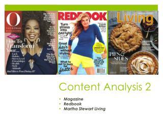 Content Analysis 2
