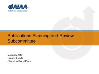 Publications Planning and Review Subcommittee