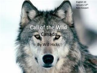 Call of the Wild  Canada