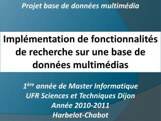 Projet base de données multimédia