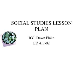 SOCIAL STUDIES LESSON PLAN