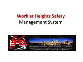 Work at Heights Safety  Management System