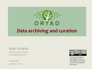 Data archiving and c uration